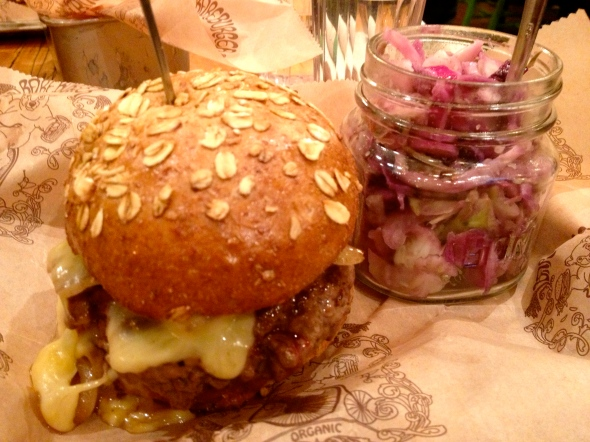 bareburger's all pasture raised, organic burgers